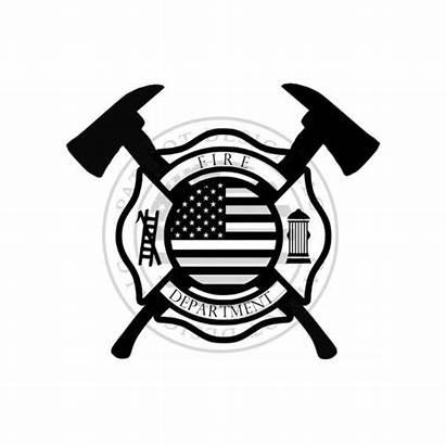 Maltese Cross Axes Clipart Firefighter Svg Axe