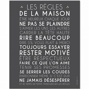 Affiche Les Regles De La Maison : d co murale mots ~ Melissatoandfro.com Idées de Décoration