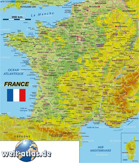 Map Of France (country) Weltatlasde