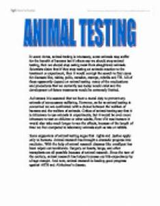 Essay On Animal Testing Essays On Current Issues Articles On Animal  Persuasive Essay On Animal Testing For Cosmetics Free Essays Examples English also Apa Format For Essay Paper  Essays About High School