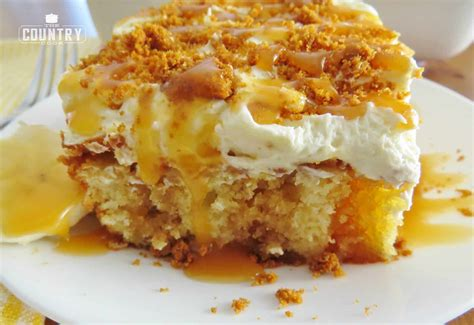 bananas foster poke cake  country cook