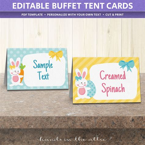 easter party food labels printable  hands