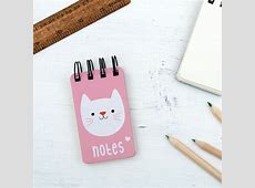 Mini Cat Spiral Notebook Rex London dotcomgiftshop