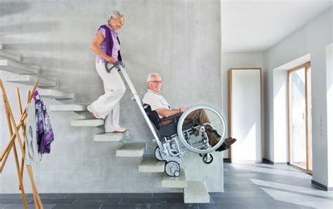 stair wheelchair scalamobil wheelchair climbing portable