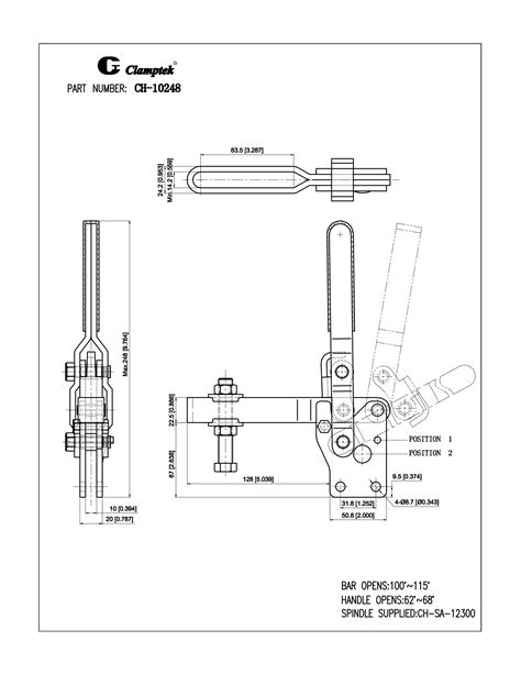 CH-10247 to CH-10250 | Vertical Toggle Clamps | Clamptek