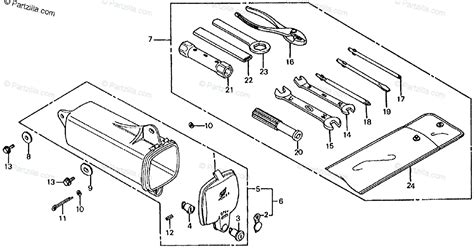 honda motorcycle 1983 oem parts diagram for tool kit honda motorcycle 1983 oem parts diagram for tools partzilla
