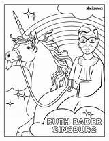 Ginsburg Coloring Ruth Bader History Month Perfect Rbg Pages Harvard sketch template