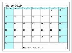 Calendários março de 2019 DS Michel Zbinden pt