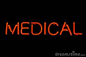 Medical Neon Sign Royalty Free Stock graphy Image