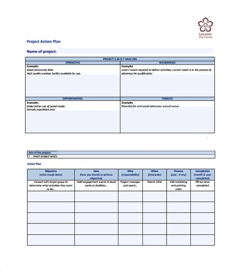 time to change action plan template sle action plan template download free documents in
