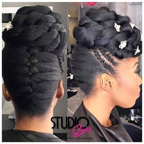 Easy Updo Hairstyles For Black Hair by Best 20 Black Hairstyles Updo Ideas On Black