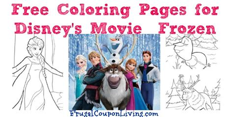 Free Printable Coloring Pages For Disney's Movie Frozen