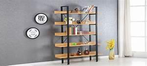 Etagere Style Industriel : etag res en bois style industriel ~ Nature-et-papiers.com Idées de Décoration
