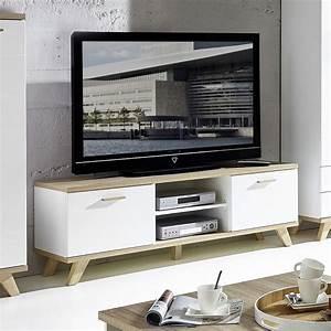 Meuble Tv Chene Massif Contemporain