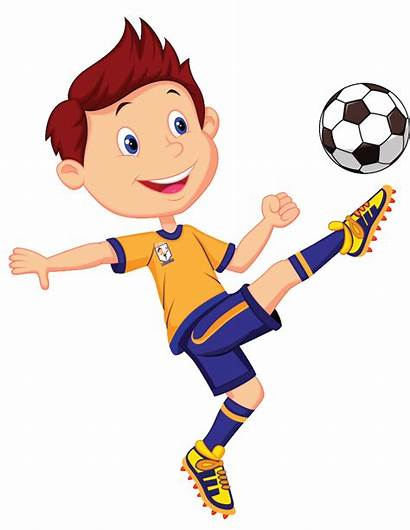 Football Clipart Player Playing Clip Boy Play