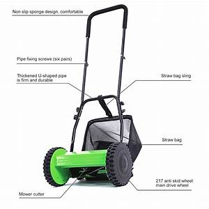 Hand Push Lawn Mower Courtyard Reel Mower Manual Lawnmower