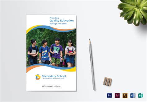 school education bi fold brochure design template  psd