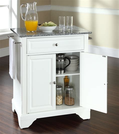 Buy LaFayette Solid Granite Top Portable Kitchen Island w