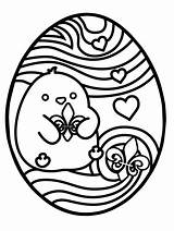 Easter Egg Coloring Printable Sheets Hunt Ready Pdf Chick sketch template