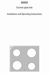 Aeg 600m Installation And Operating Instructions Manual