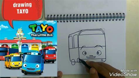 menggambar mobil tayo anak tk juga bisa youtube