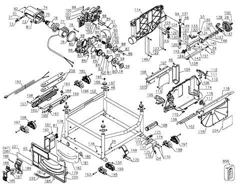 dewalt saw table parts model dwe7491rstype1 sears partsdirect