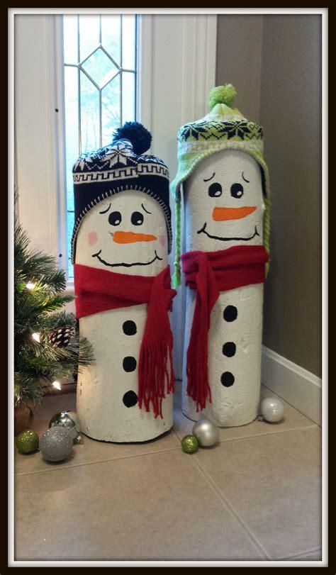 craft decoration ideas reader diy idea log snowmen hip2save 1477
