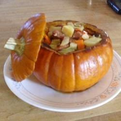 Cinderella Pumpkin Bowl With Vegetables And Sausage Recipe