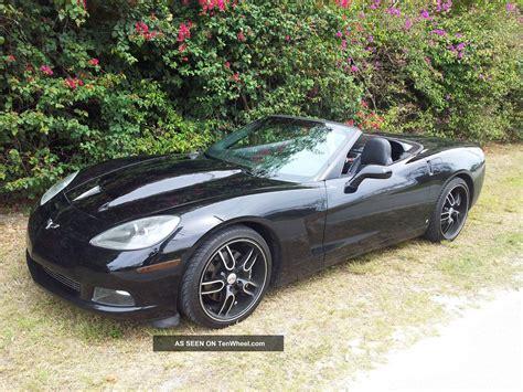 2008 Chevrolet Corvette Convertible 6 2l Triple Black