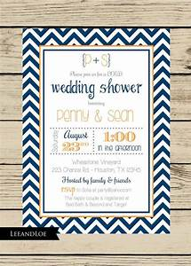 chevron wedding shower invitation couples coed bridal With co ed wedding shower