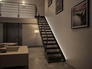 Kit Led Escalier : int grer des led sur son escalier option stairkaze stairkaze ~ Melissatoandfro.com Idées de Décoration