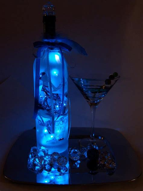 grey goose led light  liquor bottle lighted decorated