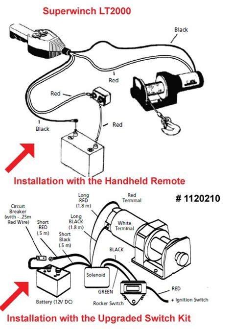 Lt2000 Superwinch Wiring Diagram by Installation Of The Remote For The Superwinch Lt2000