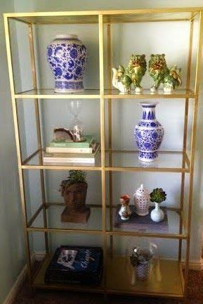year of change august challenge bookcase styling gold etagere diy ikea hack blue and white