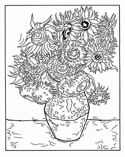 Gogh Van Coloring Vincent Children Pages Funny