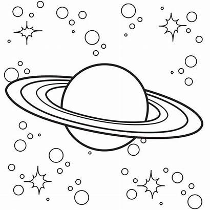 Space Coloring Saturn Pages