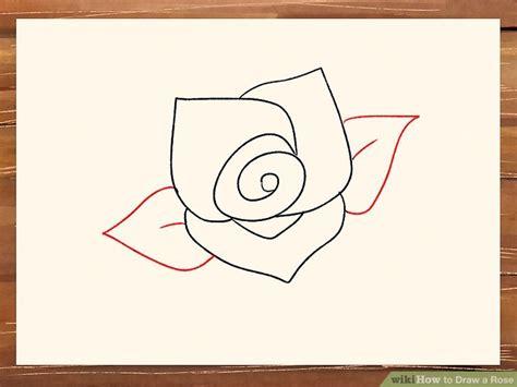 ways  draw  rose wikihow