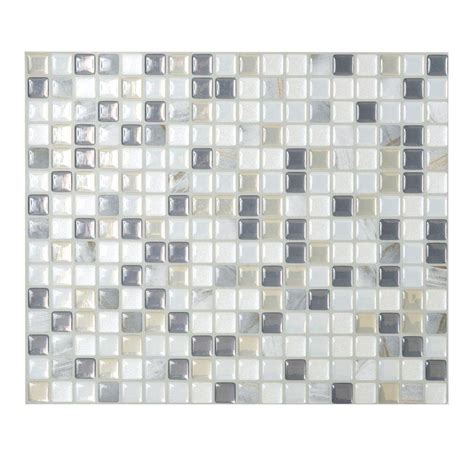 smart tiles 9 65 in x 11 55 in peel and stick mosaic
