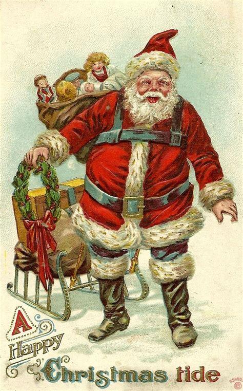 printable postcard  santa    print