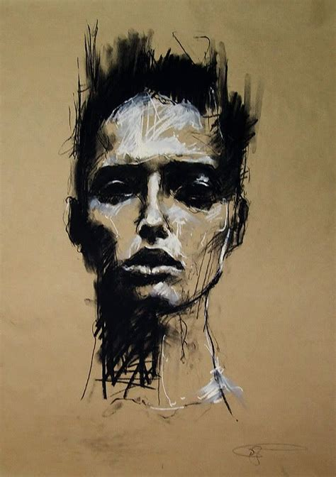 Abstract Black And White Portrait by But Like The Strength Figure Should Be Slightly