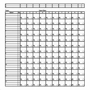 free printable baseball score sheet With softball scorecard template