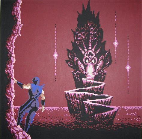 Ninja Gaiden 2 Skull Castle Created By 8 Bit Artist