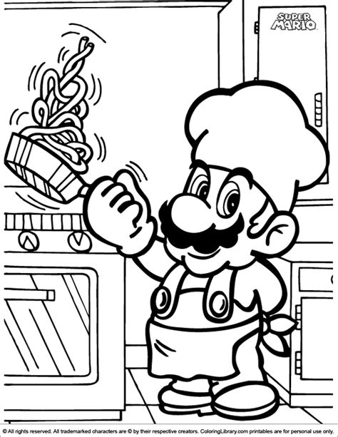 pictures  super mario brothers coloring home