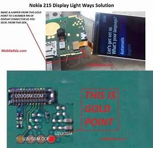 Nokia 215 Display Light Solution Jumper Method