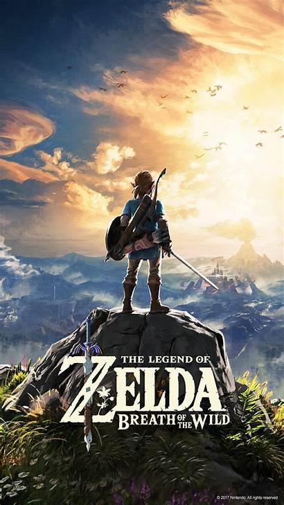 Breath Zelda Wild Legend Wallpapers Nintendo Mobile
