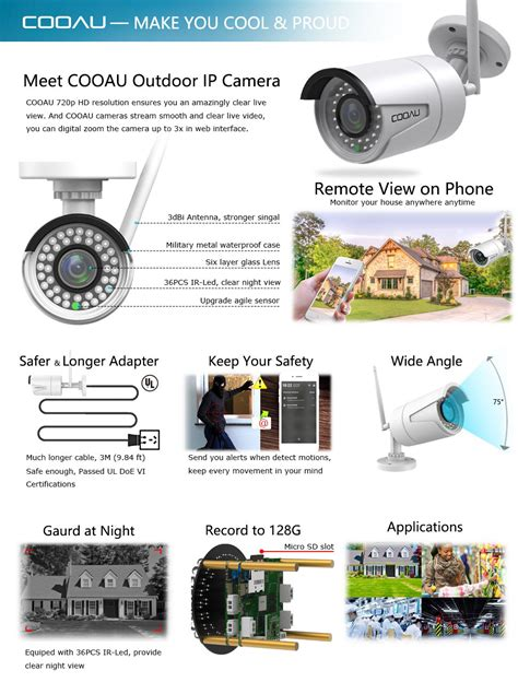 outdoor ip cooau wifi security outdoor ip wireless co