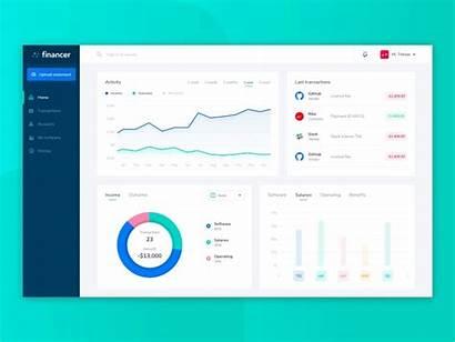 Dashboard Finance Ui Dribbble Animation Cryptocurrency Money