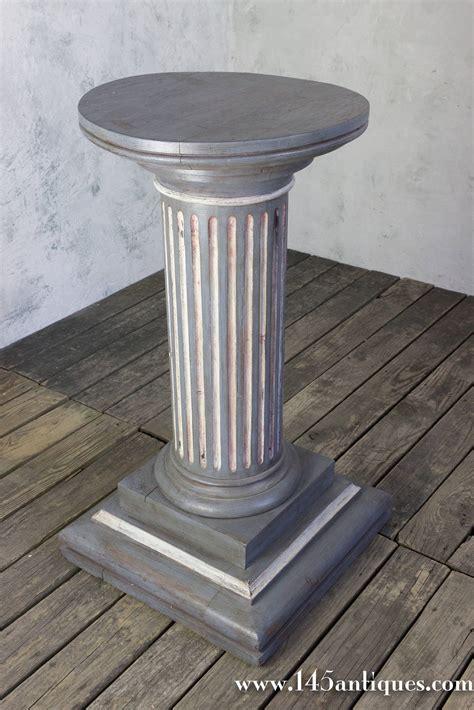 Pedestal Building by Painted Pedestal Column For Sale At 1stdibs