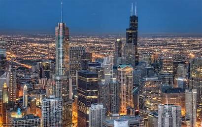 Chicago Illinois Night Cities Desktop Usa Wallpapers