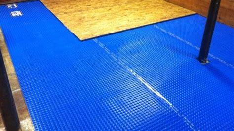 basement floor underlay more on finished floor underlayments in basements canadian contractor
